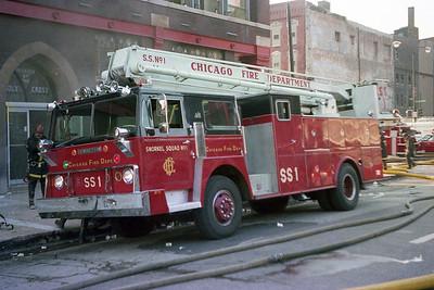 S S 1 ENDRICKSON - PIERCE 55' AT A EXTRA ALARM FIRE
