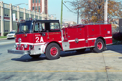 SQUAD 2A  1973  SEAGRAVE - 1993  CFD SHOPS   D-407   X- ENGINE 7