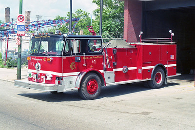 SQUAD 5  1973  SEAGRAVE - 1993  CFD SHOPS   D-395   X- ENGINE 11 & 99