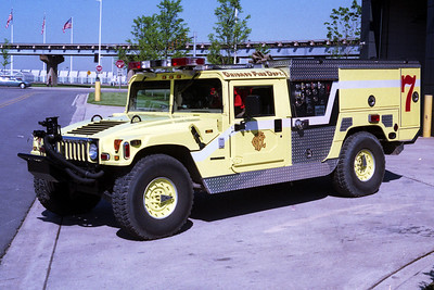 CHICAGO FD SQUAD 7A  HUMMER