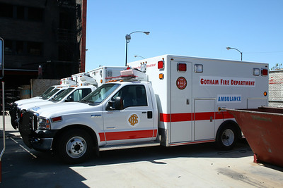 GOTHAM CITY FD ACADEMY AMBULANCE USED IN UPCOMING BATMAN MOVIE