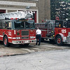 CHICAGO  ENGINE 125  MACK MB - E-ON AND  TRUCK 53 SEAGRAVE 100'