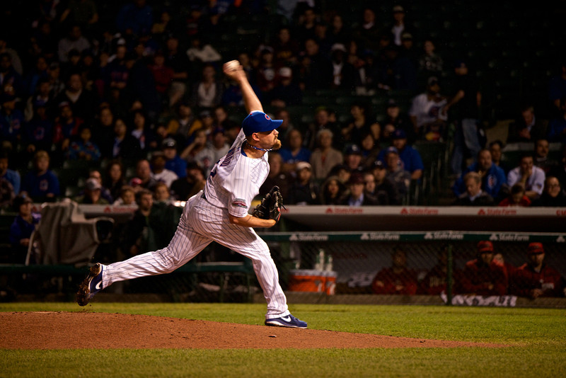 TRAVIS WOOD DELIVERS AT WRIGLEY FIELD