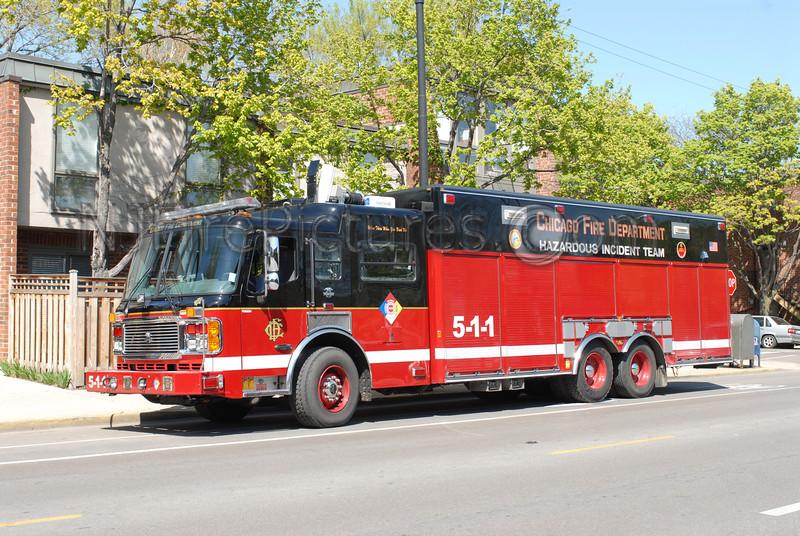 CHICAGO HAZMAT 511- 2002 AMERICAN LAFRANCE #FDG534