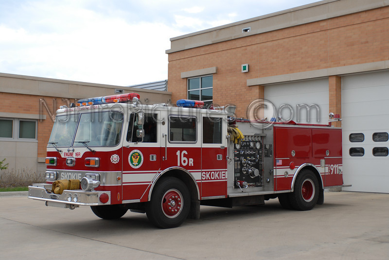 SKOKIE, IL ENGINE 16R - 1988 PIERCE ARROW 1500/500