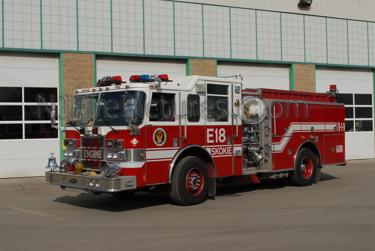SKOKIE, IL ENGINE 18 - 2004 PIERCE DASH 1500/500