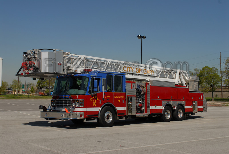 Gary - Tower Ladder 7 - 2000 Ferrara 1500/300/100'