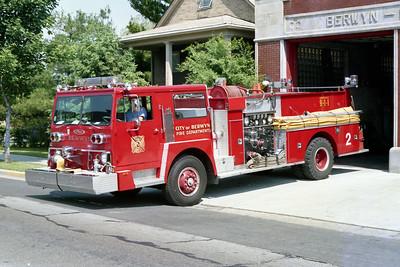 BERWYN  ENGINE 92  1976 HENDRICKSON - PIERCE  1250-500   #8341-C1