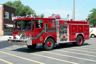 BROOKFIELD FD  ENGINE 416  1986  KOVATCH - E-ONE   1250-500   # 4525   BECAME ENGINE 421