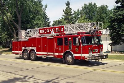 BROOKFIELD FD  TRUCK 419  2001  E-ONE HURRICANE   100'    21704