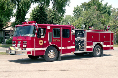BROOKFIELD FD  ENGINE 316  1991  E-ONE CYCLONE   1500-500   # 8876   BECAME ENGINE 411