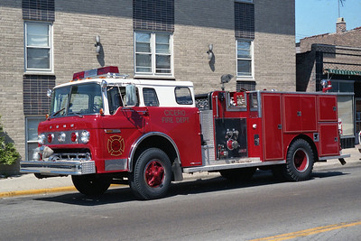 CICERO FD  ENG 3  1981 FORD C-8000 - DARLEY  1000-500  AFTER BEING REPAINTED  BF