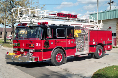 FRANKLIN PARK  ENGINE 1  1994 PIERCE ARROW   1500-500-50' TSQRT   E-8359