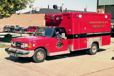 FRANKLIN PARK  AMBULANCE 481   1991 FORD F350 - TAYLOR MADE