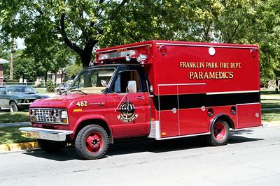 FRANKLIN PARK  AMBULANCE 482  1979 FORD E350 - EVF