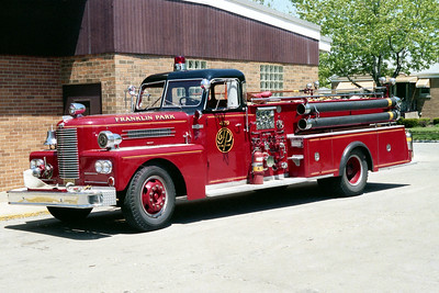 FRANKLIN PARK  ENGINE 479  1969 PIRSCH   1250-500