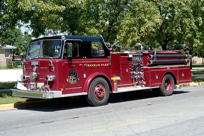 FRANKLIN PARK  ENGINE 474  1966 PIRSCH   1250-500