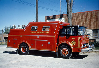 FRANKLIN PARK  SQUAD 476    FORD C - GERSTENSLAGER