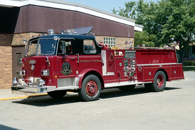 FRANKLIN PARK  ENGINE 478   1975 PIRSCH  1250-500   2