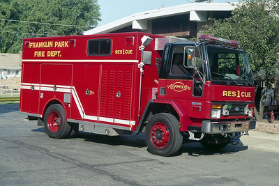 FRANKLIN PARK RESCUE 1   1991 FORD - SAUBER   X- ELLWOOD FPD
