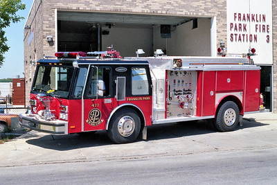 FRANKLIN PARK  ENGINE 477    E-ONE HURRICANE