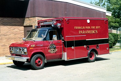 FRANKLIN PARK  AMBULANCE 481  1979 FORD E350 - EVF   2