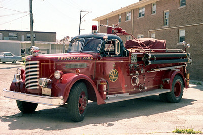 FRANKLIN PARK  ENGINE 477   1947 PIRSCH   1000-500