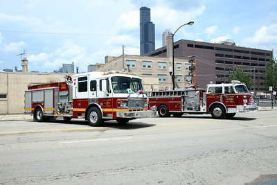 HILLSIDE FD   NEW AND OLD AMERICAN LA FRANCE PUMPERS