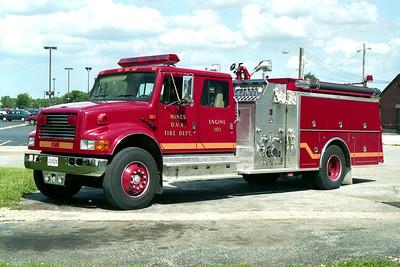 HINES VA HOSPITAL  ENGINE 101  1992 IHC 4900 - KME 1250-750