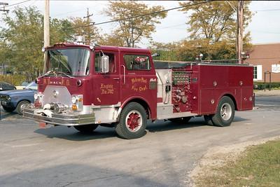 MELROSE PARK  ENGINE 702  MACK CF  RED