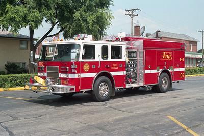 NORWOOD PARK FD  ENGINE 102  2001  PIERCE SABER   1500-750-40F   #12062