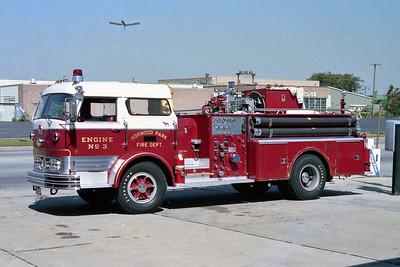 NORWOOD PARK FD  ENGINE 103  1968  MACK C95   1000-300   C95-1087