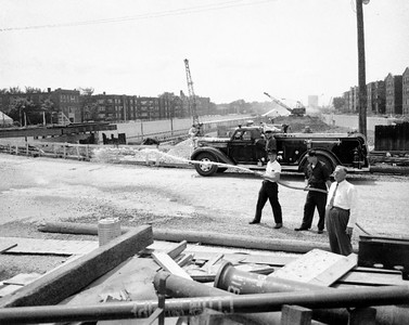 1960 OAK PARK SQUAD 1  Eisenhower Expressway being built in the background  Late 50's or early 60's   BF