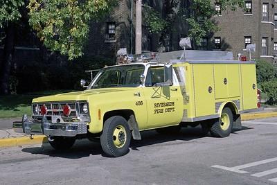 RIVERSIDE FD  SQUAD 408  1980 GMC-E-ONE  BF