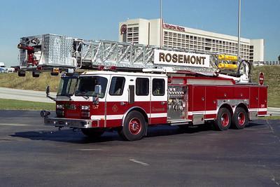 ROSEMONT FD  TOWER  E-ONE HURRICANE