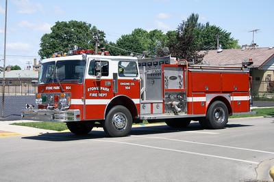 STONE PARK 904  1981 SPARTAN-E-ONE  1500-500   X-BENSENVILLE FD ENG 86