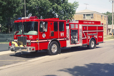 STONE PARK 911  2002 HME 1871-DARLEY  1250-1000  DESTROYED IN A ACCIDENT WITH A NORTHLAKE ENGINE