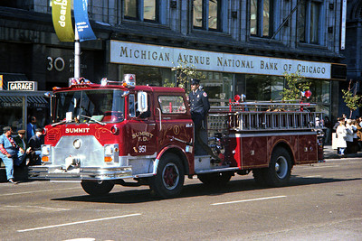 SUMMIT FD  ENGINE 951  MACK CF  AT FIRE PREVENTION DAY PARADE