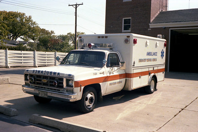 WESTERN SPRINGS   AMBULANCE   CHEVY