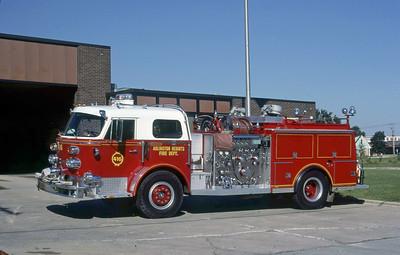ARLINGTON HEIGHTS FD  ENGINE 4  1970  ALF 1000   1500-500