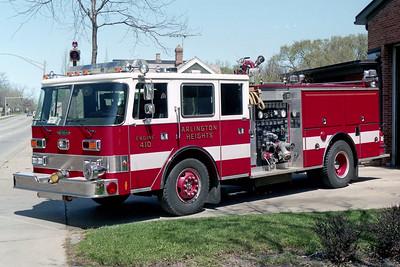 ARLINGTON HEIGHTS FD  ENGINE 2  1986  PIERCE ARROW   1500-500    E-3092