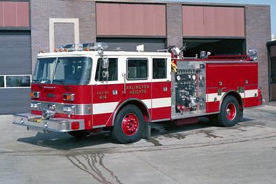 ARLINGTON HEIGHTS FD  ENGINE 414  1991  PIERCE ARROW   1500-500    E-6375