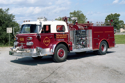 ARLINGTON HEIGHTS FD  ENGINE 418  1968 ALFCO 900 SERIES - 1980 MARION REHAB  1250-500  BF