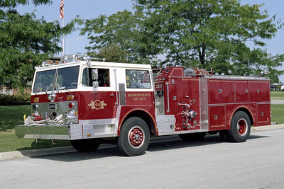 ARLINGTON HEIGHTS FD  ENGINE 4  1974  HENDRICKSON 1871 - HOWE   1250-500    13814