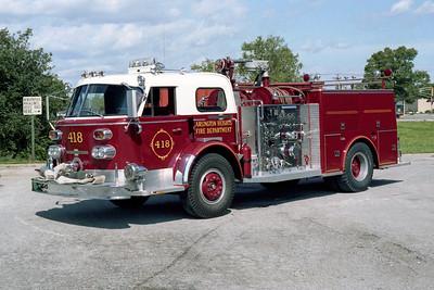 ARLINGTON HEIGHTS FD  ENGINE 418  1968  ALF 900   1250-500