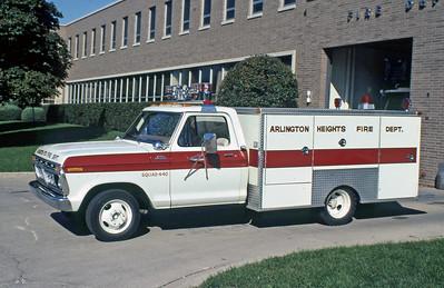 ARLINGTON HEIGHTS FD  SQUAD 440  1977  FORD F - CUSTOM