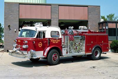 ARLINGTON HEIGHTS FD  ENGINE 416 ALFCO