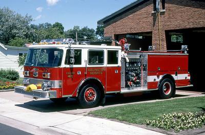 ARLINGTON HEIGHTS FD  ENGINE 410  1986  PIERCE ARROW   1500-500