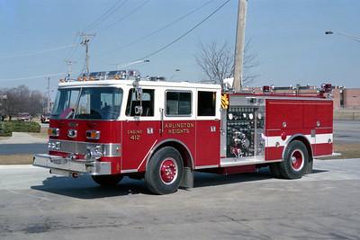 ARLINGTON HEIGHTS FD  ENGINE 412  1987  PIERCE ARROW   1250-500   E-3612