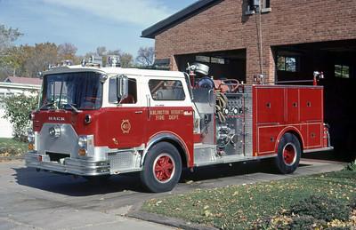 ARLINGTON HEIGHTS FD  ENGINE 411  1975  MACK CF - 1985 MARION    1000-500